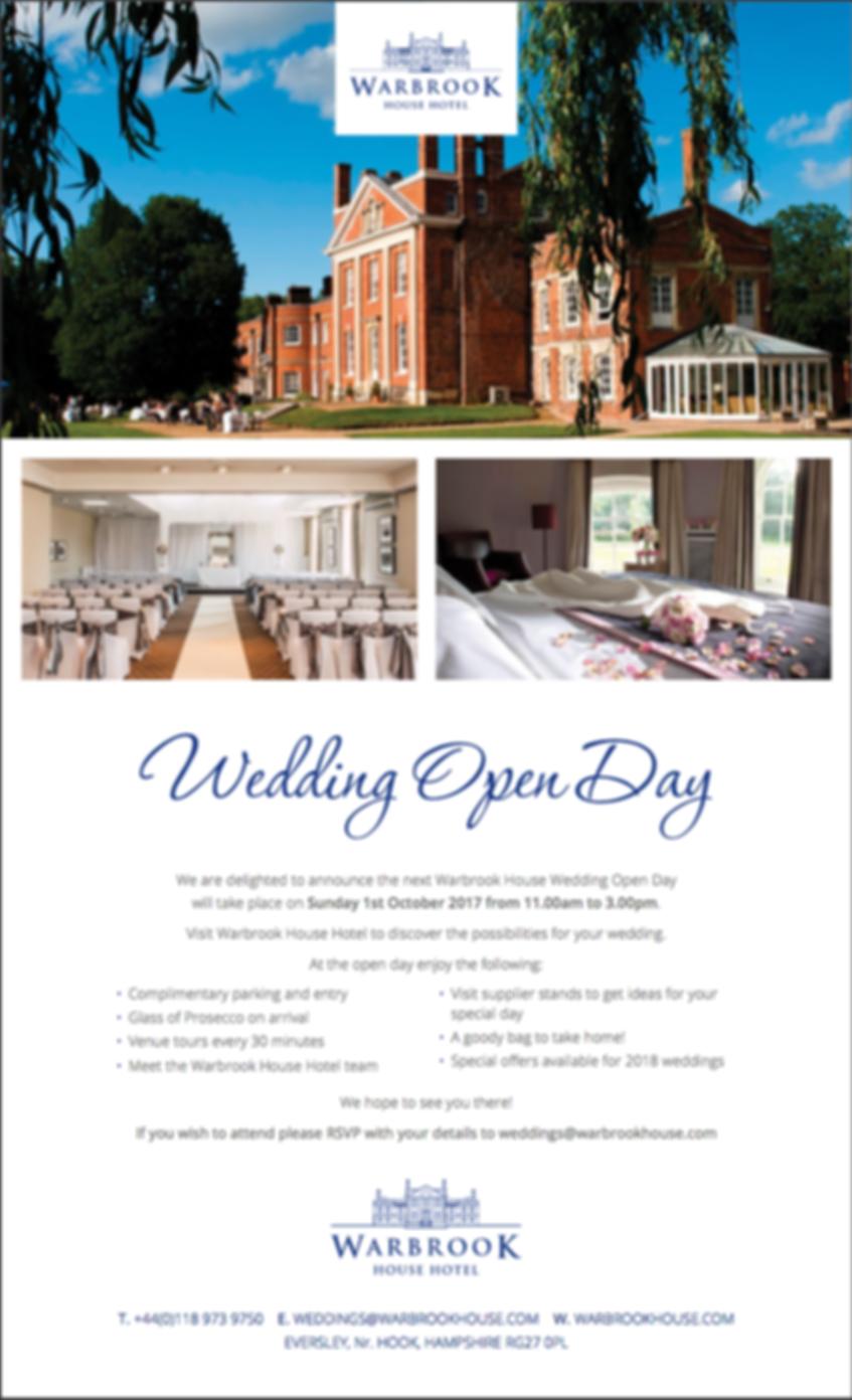 Warbrook House Wedding Open Day
