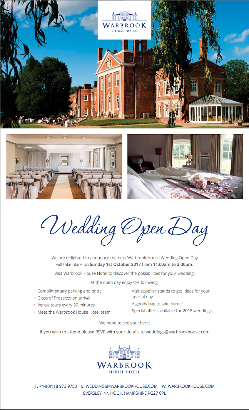 Warbrook House Wedding Open Day