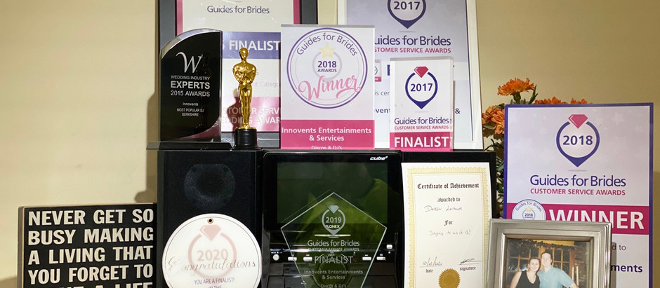 Innovents are again 'Guides For Brides' customer service awards finalists.