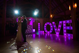 LOVE Letters for hire for weddings