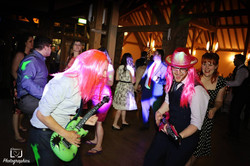 Guests dancing to the dj