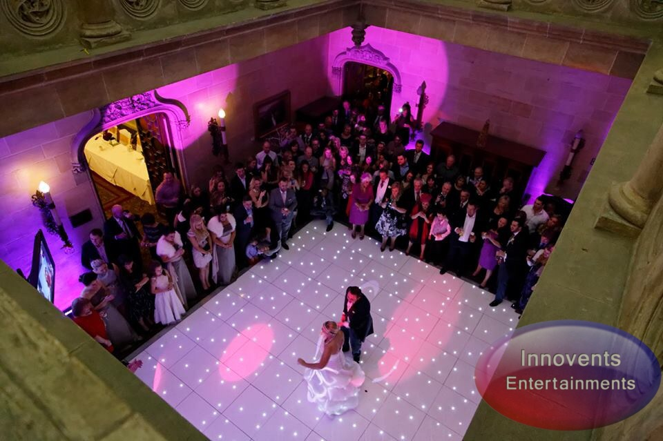 White led dance floor - northcote house