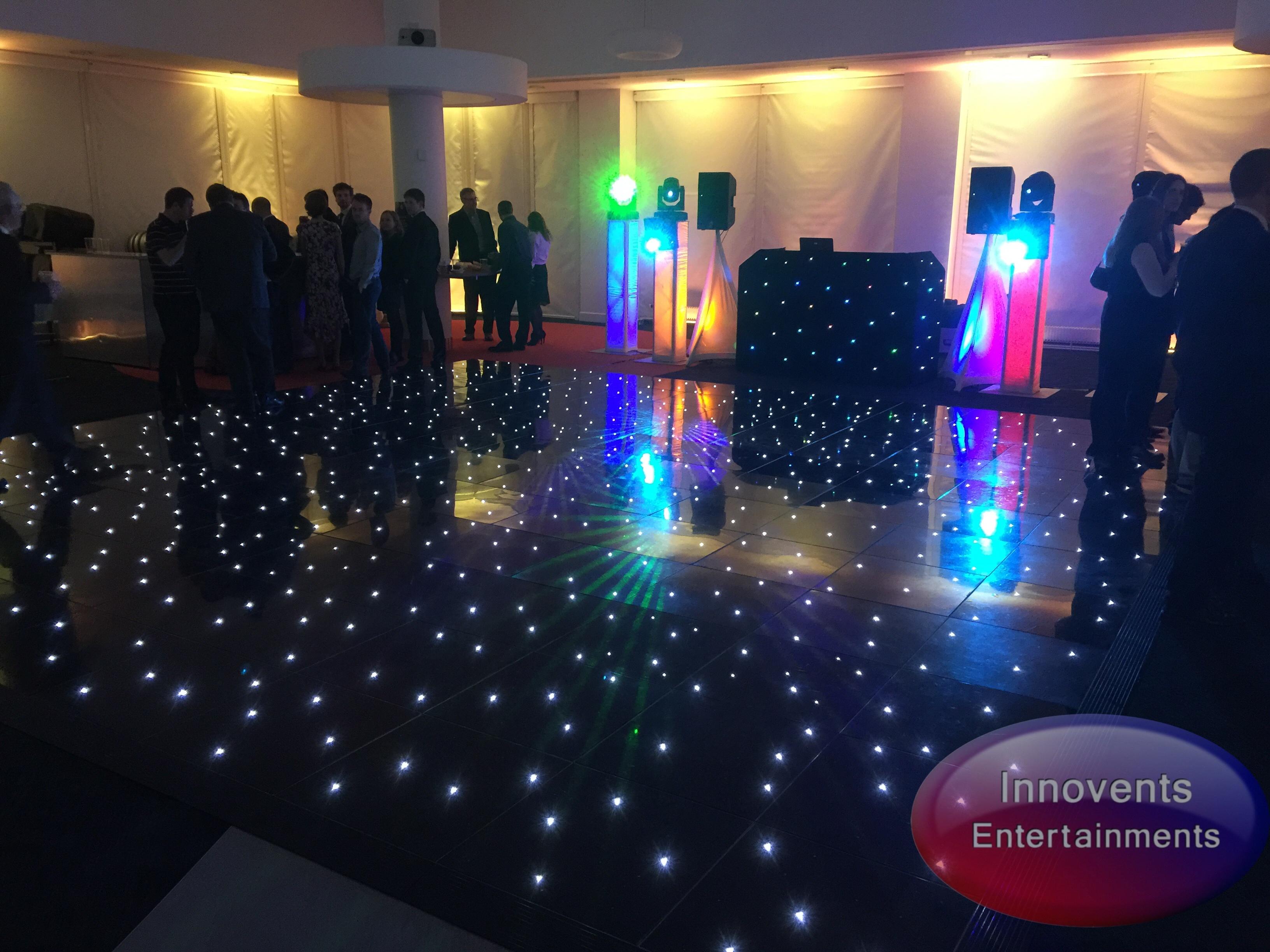 Black led dance floor - Corporate Party