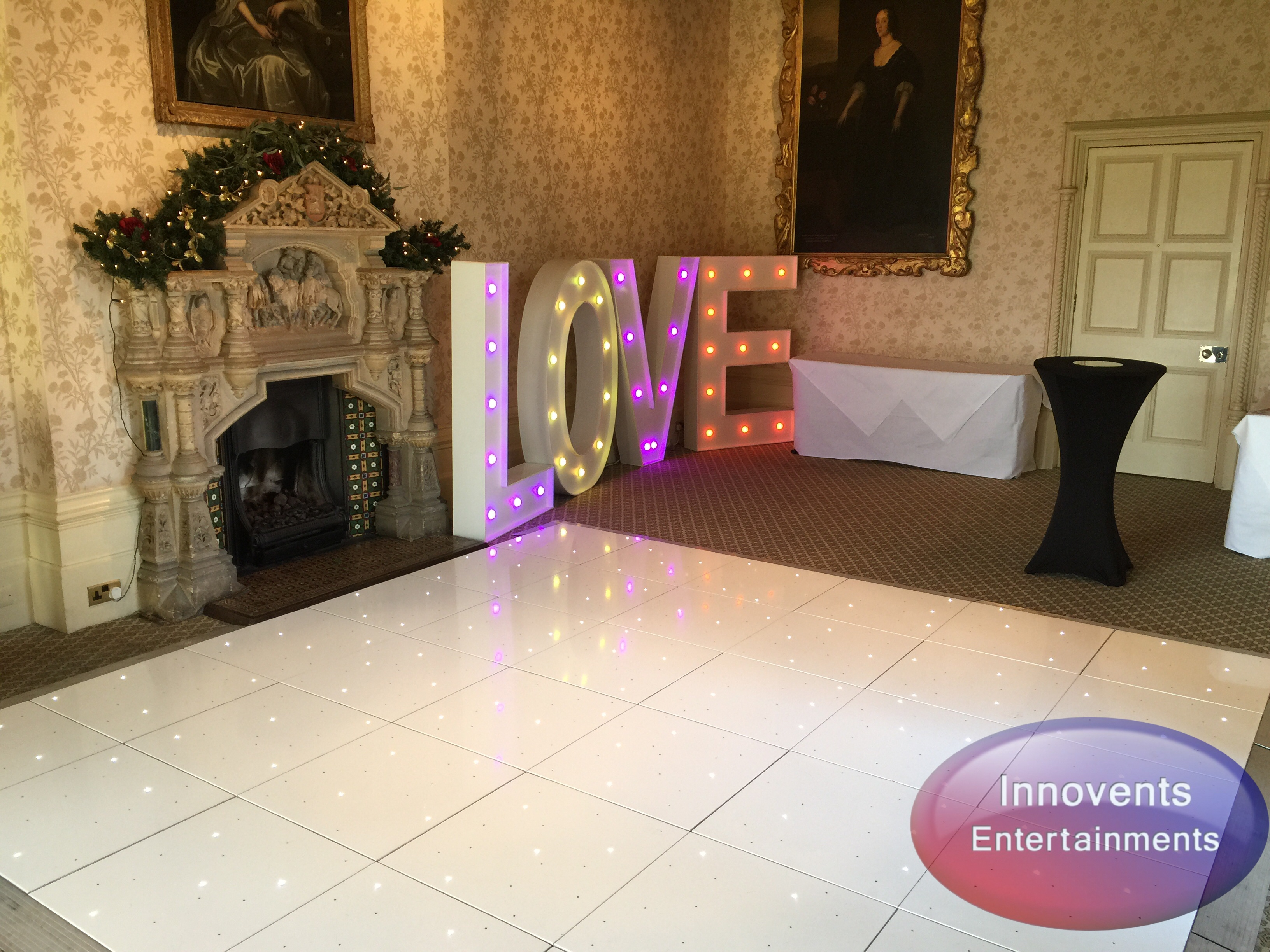 White led floor and love at Elvetham