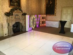 White led floor and love at Elvetham