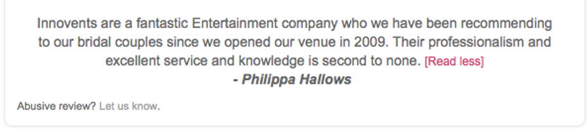 Innovents Review from Philippa Hallows at Rivervale Barn