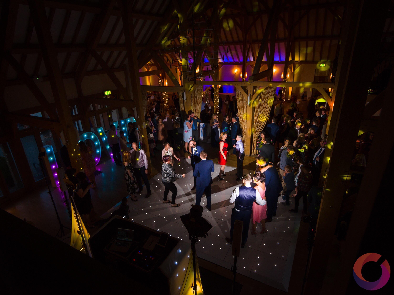 led dance floor at Rivervale Barn
