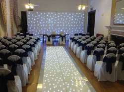 White sparkly ceremony package