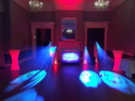 Visualisation video disco with special lighting effects