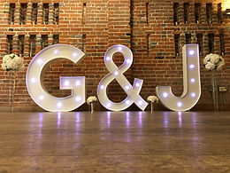 Led initials at Wasing Park
