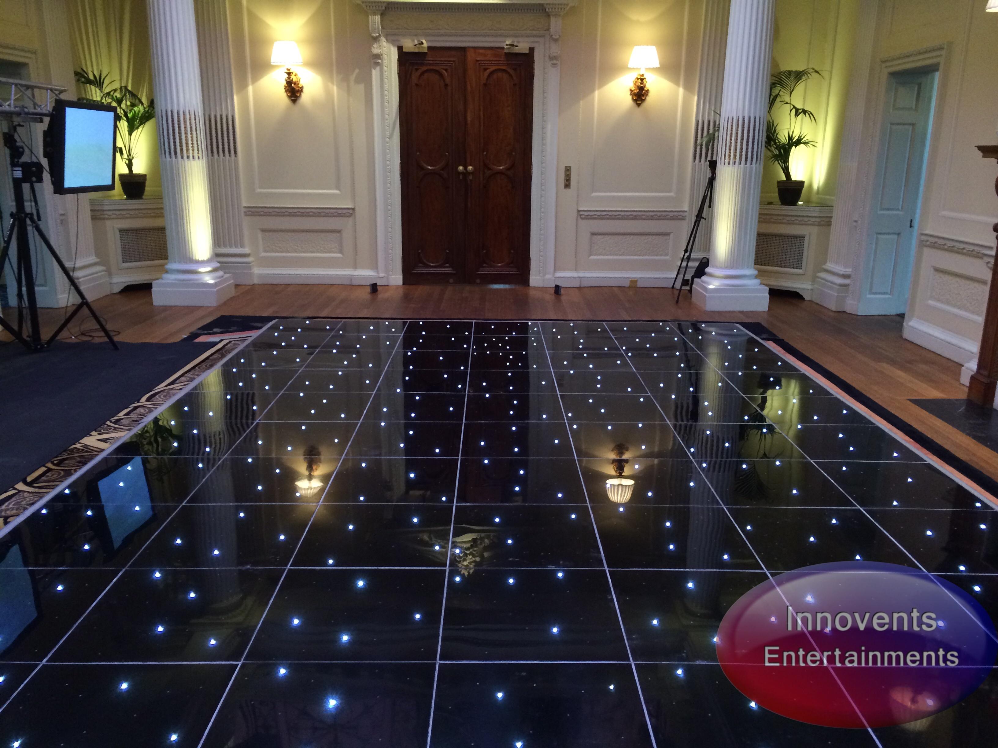 Black led dance floor - Hedsor House