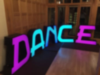 Led DANCE letters