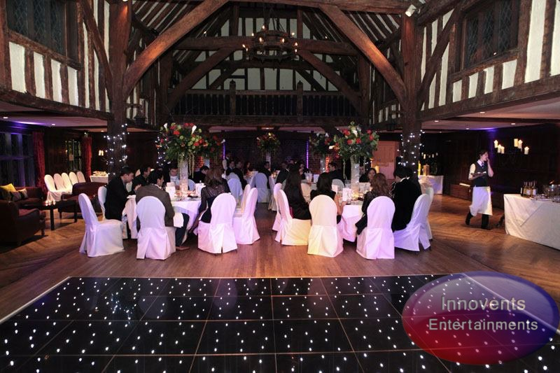 Black led dance floor - Great Fosters
