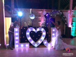 LED Initials with DJ