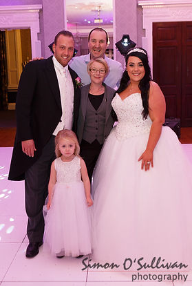 Darren with Danny and Becky Todd - Wedding Disco on New Years Eve 2015 at Easthampstead Park Conference Centre, Wokingham