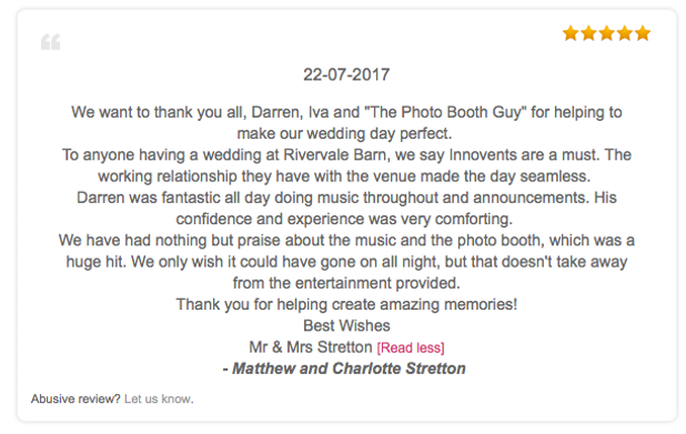 Rivervale Barn Wedding Dj Review