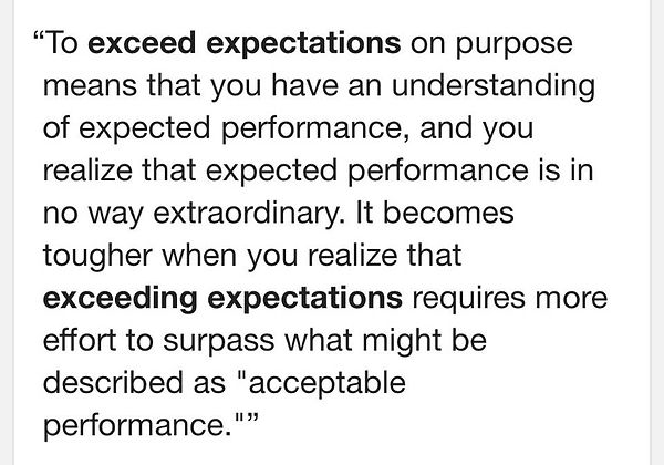Exceed expectation quote