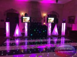 Black and white led dance floor