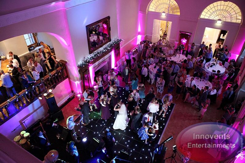 Black led dance floor - Farnham Castle