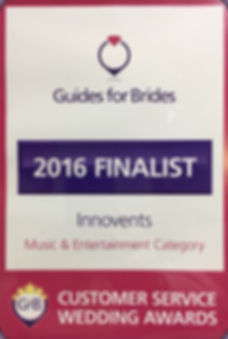 Innovents Guides for Brides Wedding Finalist awards