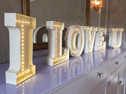 3D Letters - I LOVE U led letters