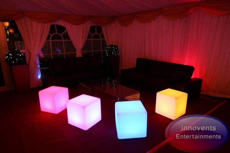 led cube furniture hire in berkshire
