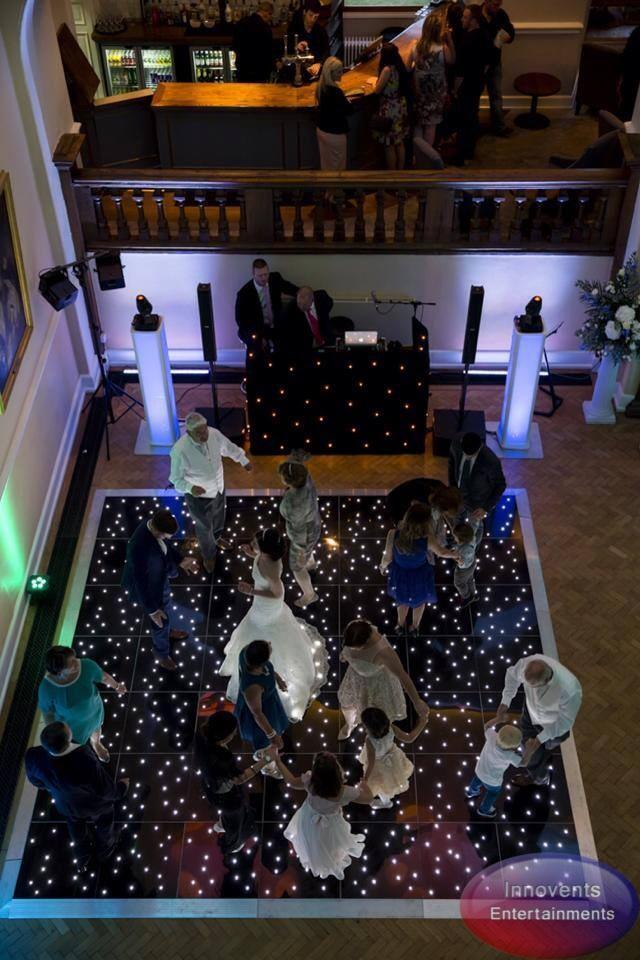 Black led dance floor - Farnahm Castle