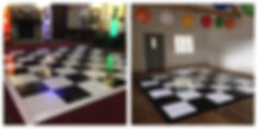 Custom colour matching dance floor edging