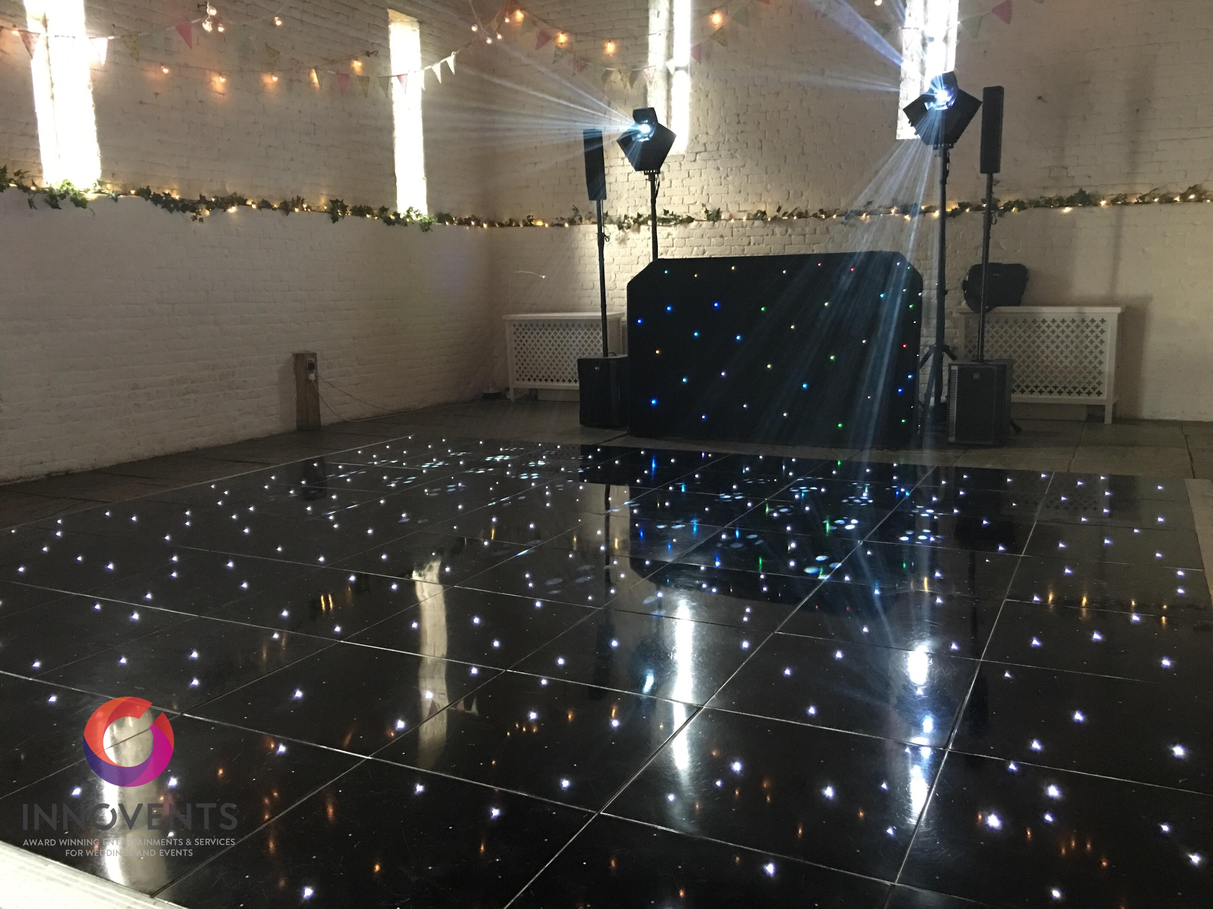 Ufton court led dance floor
