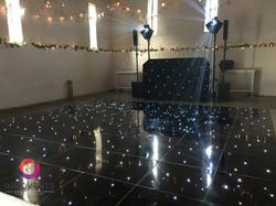 Ufton court black led dance floor