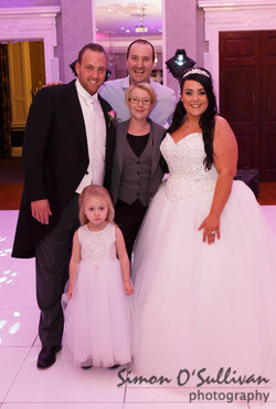 DJ Darren with the bride and groom