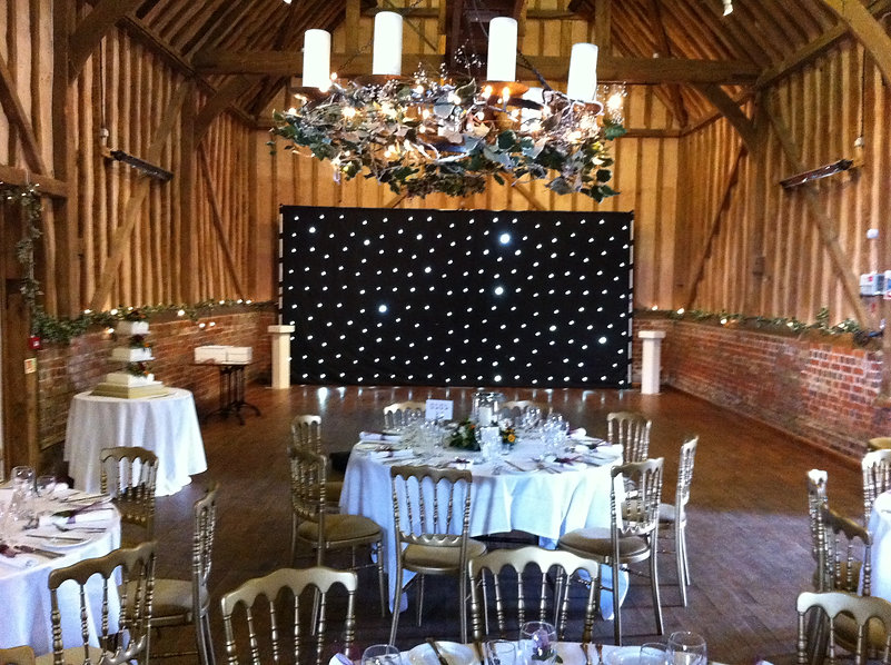 black led backdrop for hire at a wedding in Lillibrooke manor Berkshire
