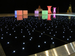 Black led dance floor with led furniture