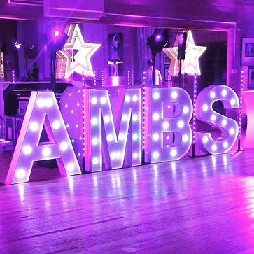 LED Letters for hire for birthdays and parties