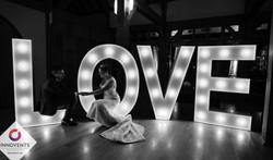 Light up led LOVE letters