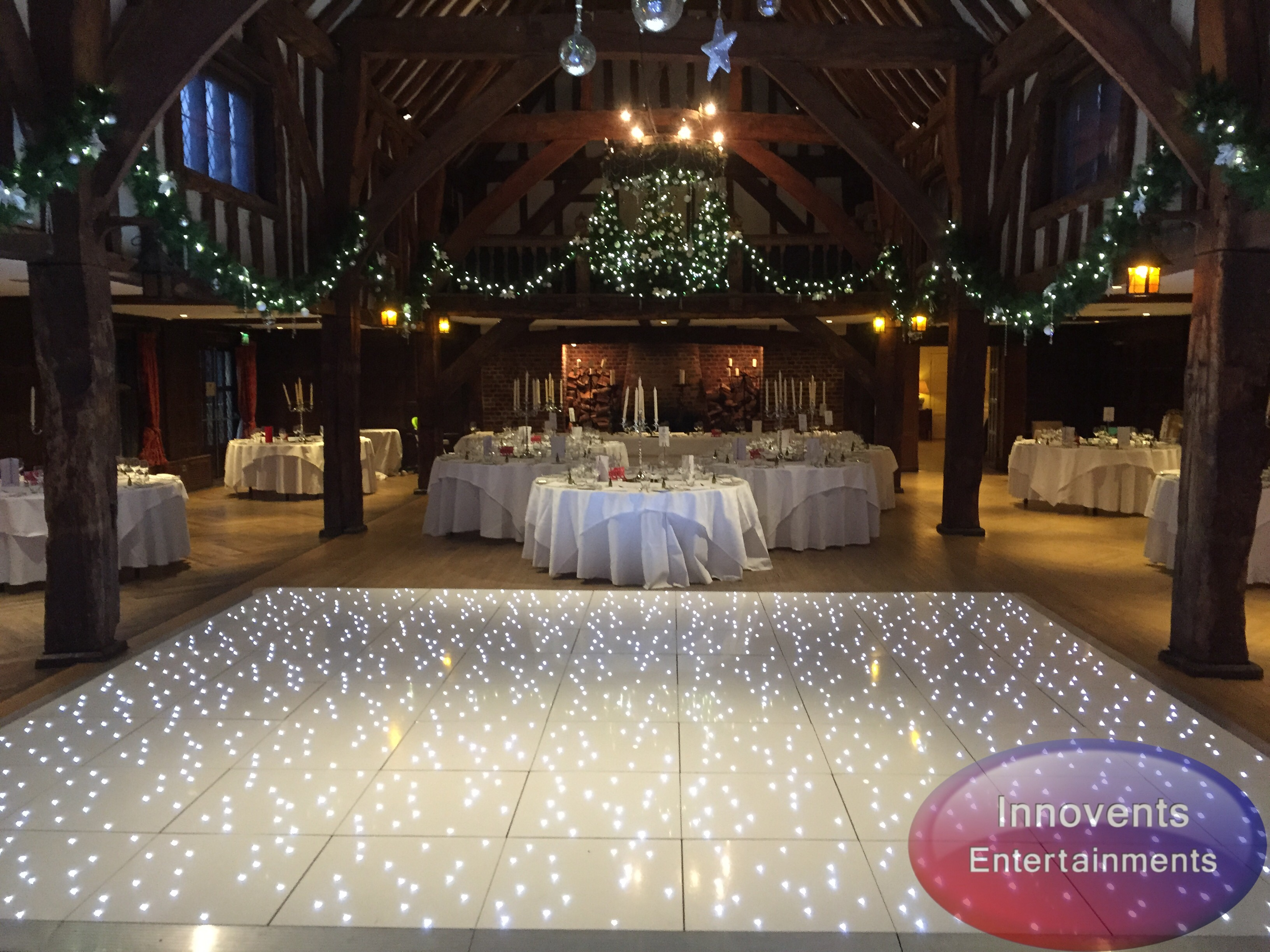 White led dance floor - Great Fosters