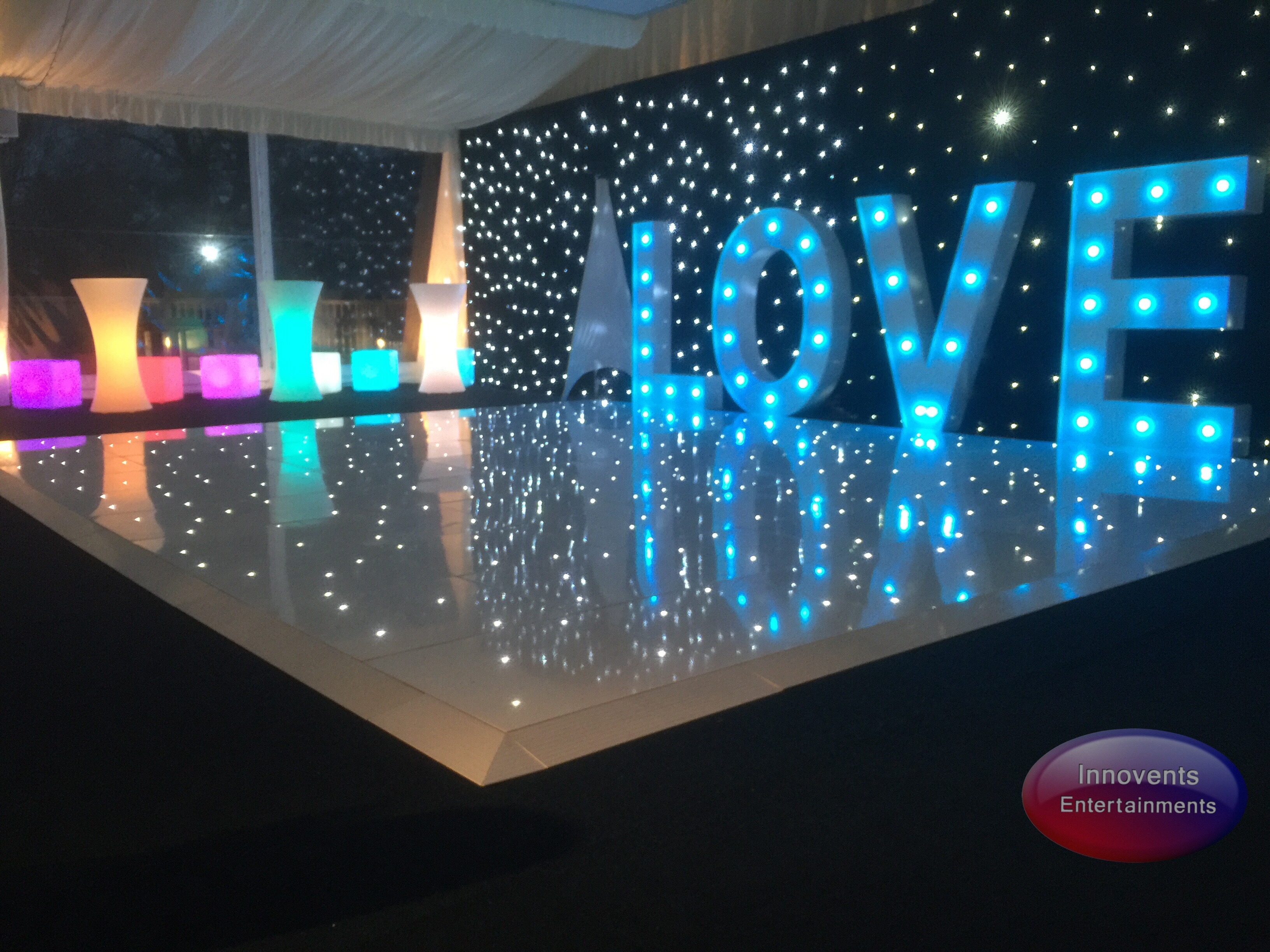 Warbrook House led dance floor