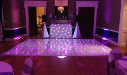 Led dance floor and wedding dj