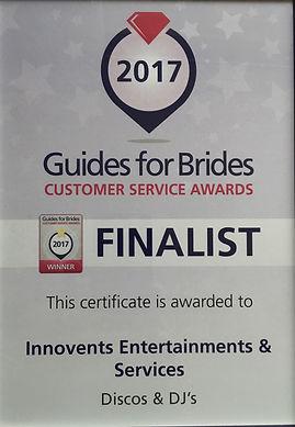 Guides for brides award 2017