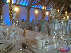 Uplighting at Rivervale Barn - Blue