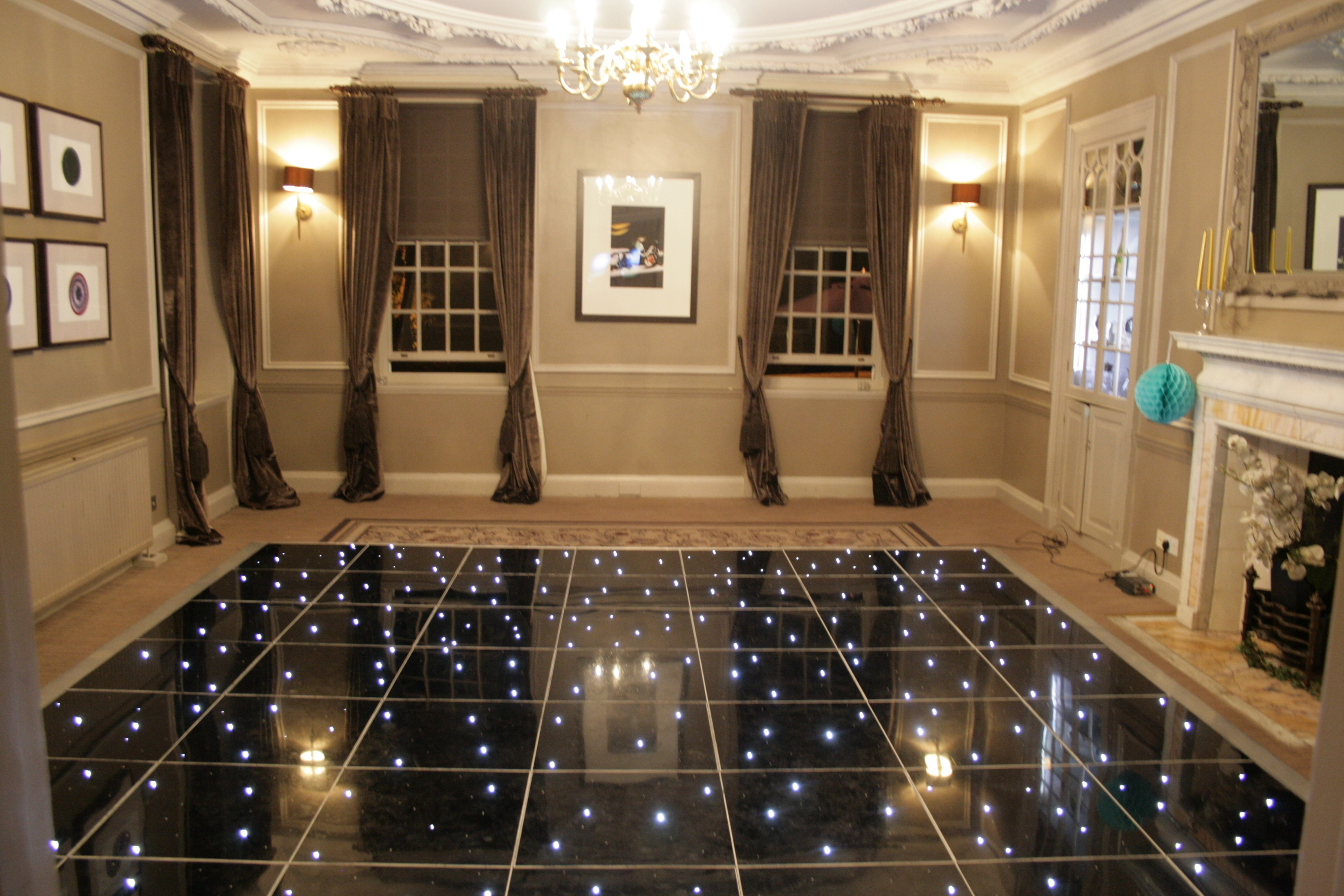 Gorse Hill led dance floor hire
