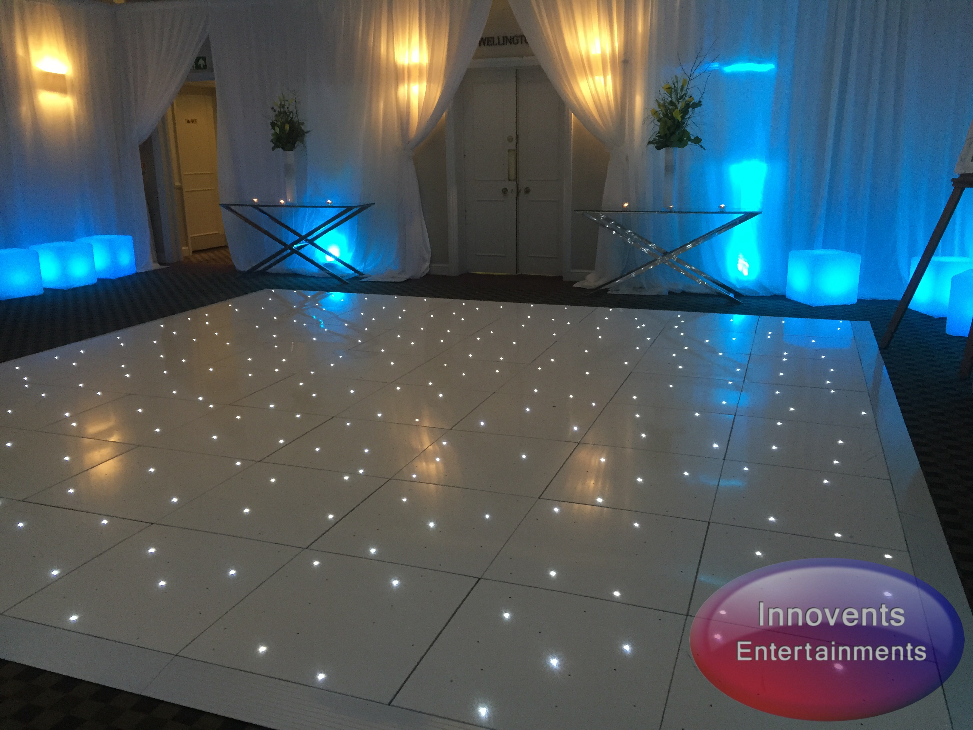 White led floor - Warbrook house