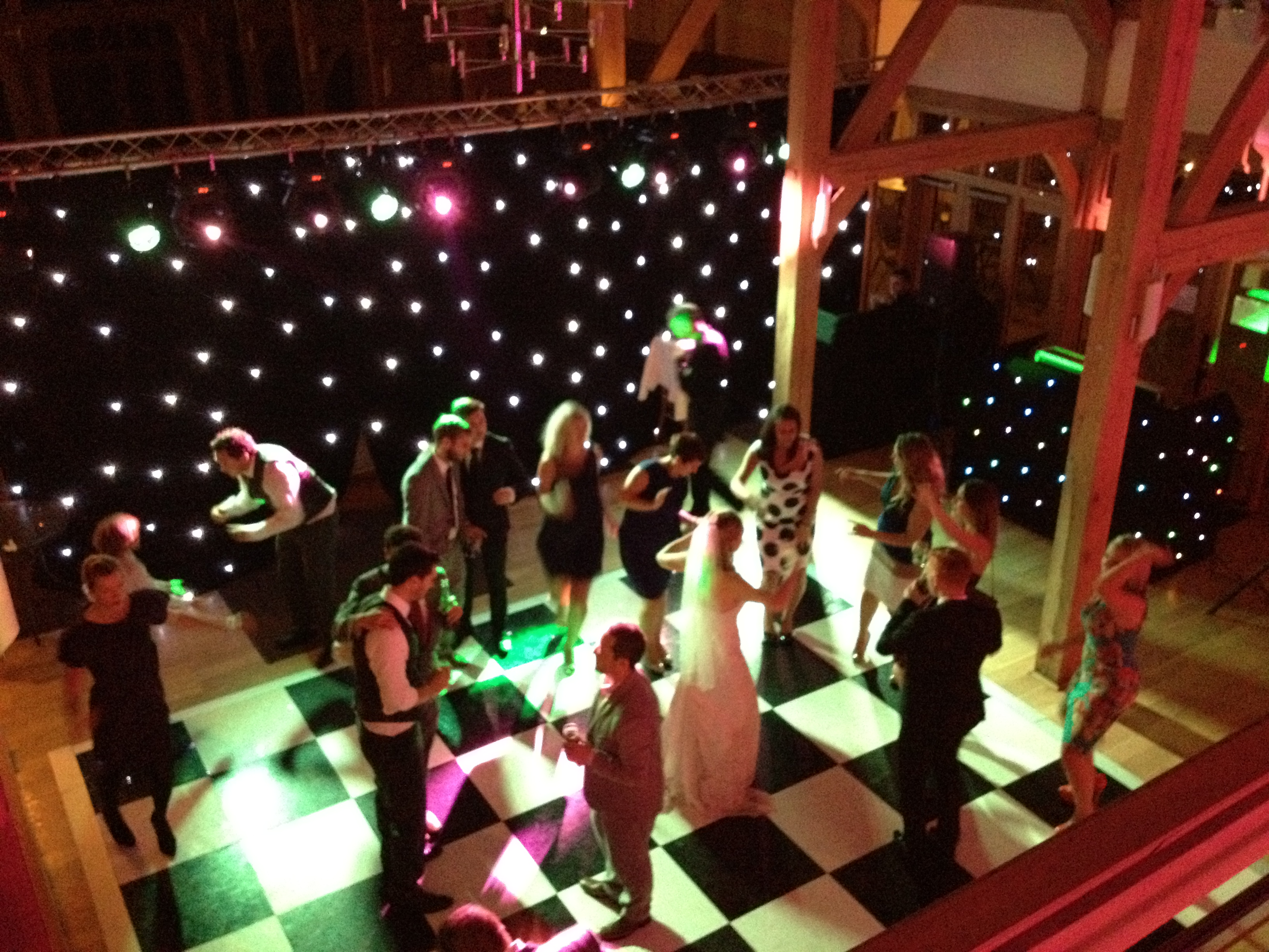 Rivervale - Black and White led dance floor