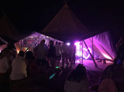 Uplighting in a tipi