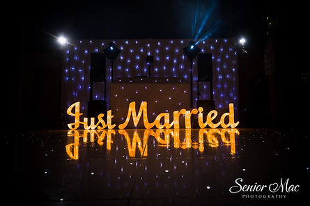 Just Married Sign hire for a wedding