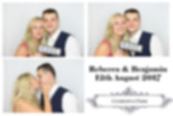 Rebecca and Benjamin's Photo Booth Gallery from wedding at Coworth Park in Berkshire