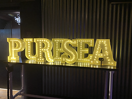 Small LED Letters for hire fully customisable