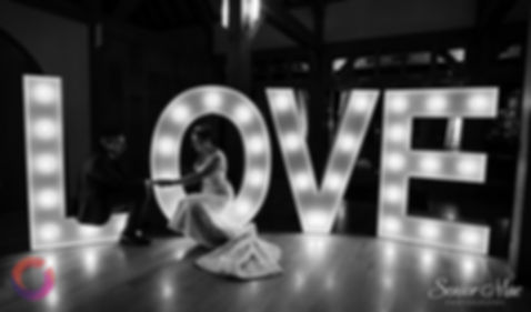 led love letters for a wedding at Ufton Court Berkshire