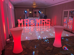 Mr & Mrs Letters for a wedding