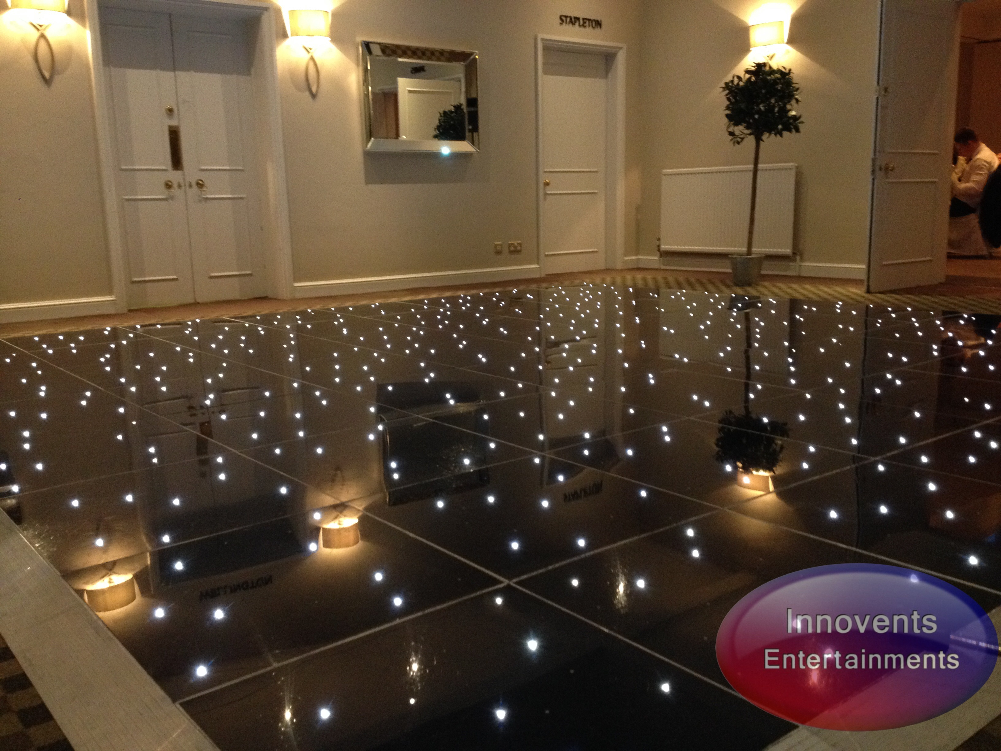 Black led dance floor - Warbrook House